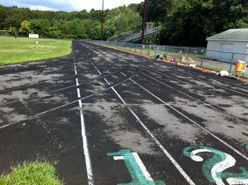 Marshall Middle School, Billerica, MA - Before resurfacing